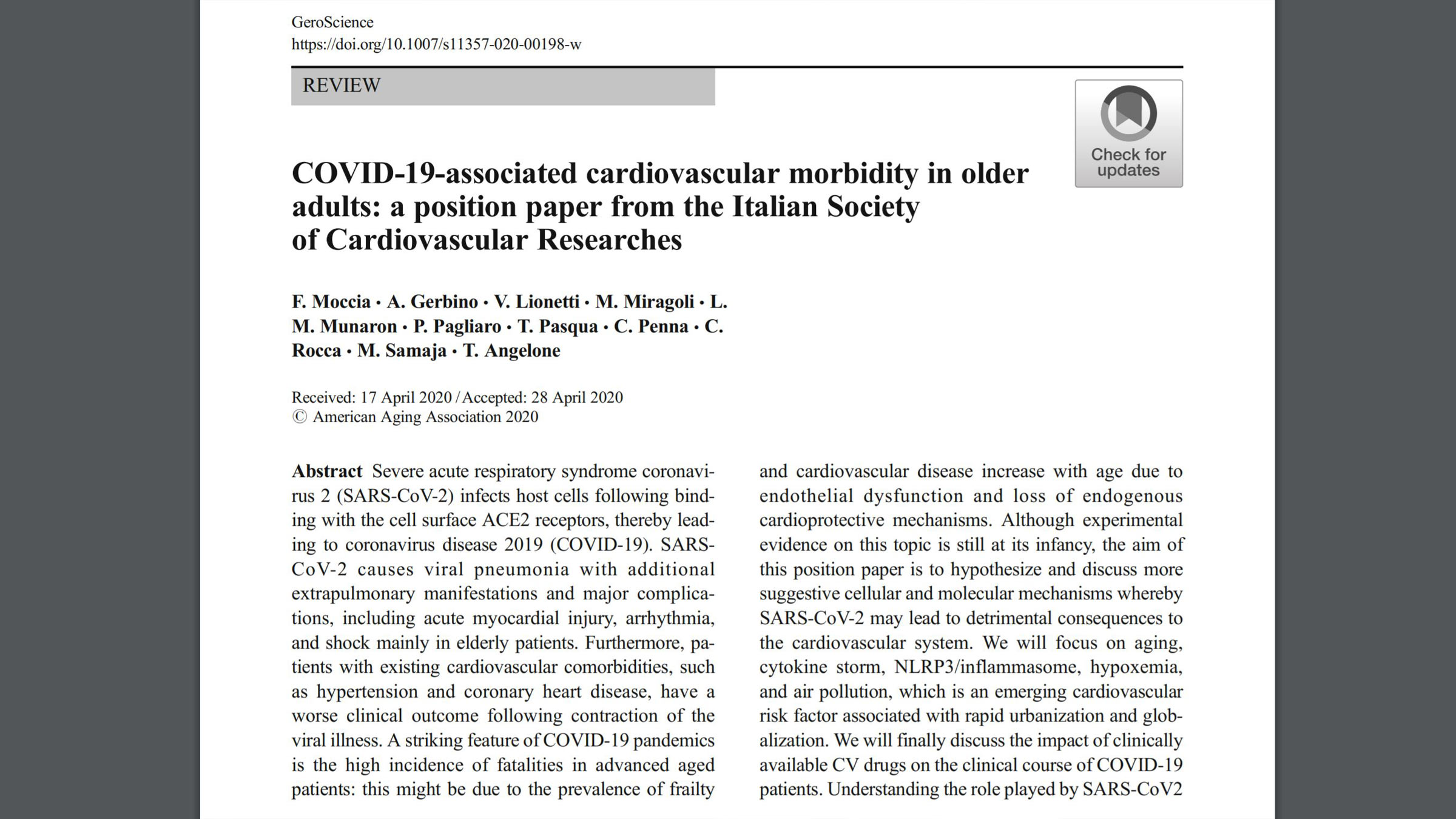 COVID-19-associated cardiovascular morbidity in older adults